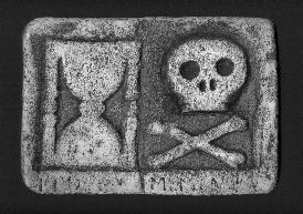 Skull and Crossbones with Sands of Time